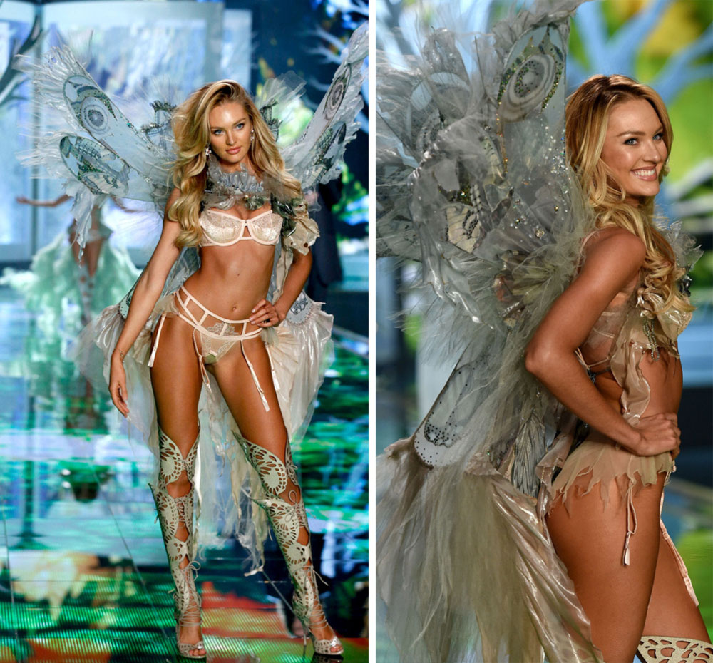 Victoria s Secret 2014 Fashion Show Candice Swanepoel wings Fairy segment