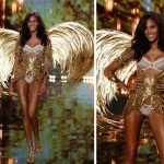 Victoria s Secret 2014 Fashion Show Cindy Bruna gold wings