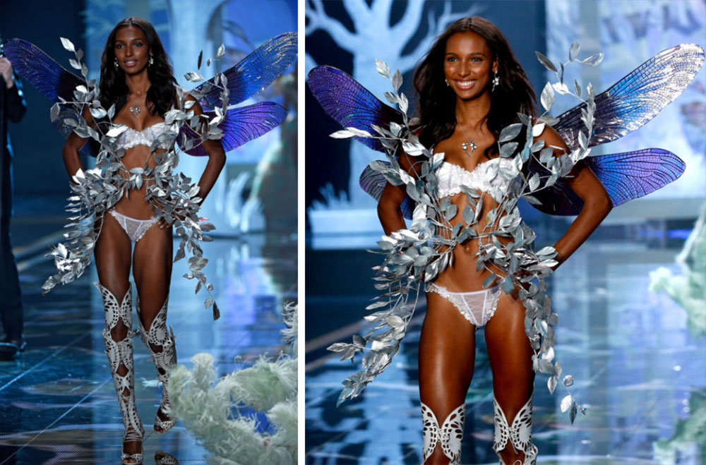 Victoria s Secret 2014 Fashion Show Jasmine Tookes Fairy  wings