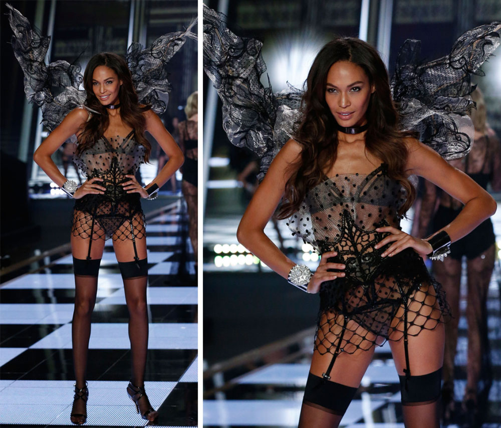 Victoria s Secret 2014 Fashion Show Joan Smalls wings