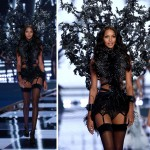 Victoria s Secret 2014 Fashion Show Lais Ribeiro black wings
