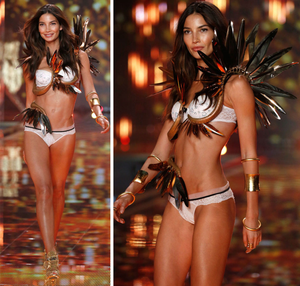 Victoria s Secret 2014 Fashion Show Lily Aldridge golden wings