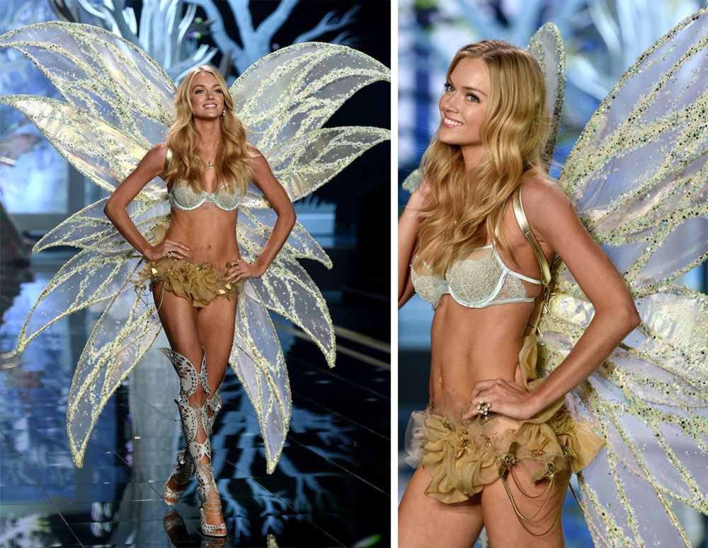 Victoria s Secret 2014 Fashion Show Lindsay Ellingson wings