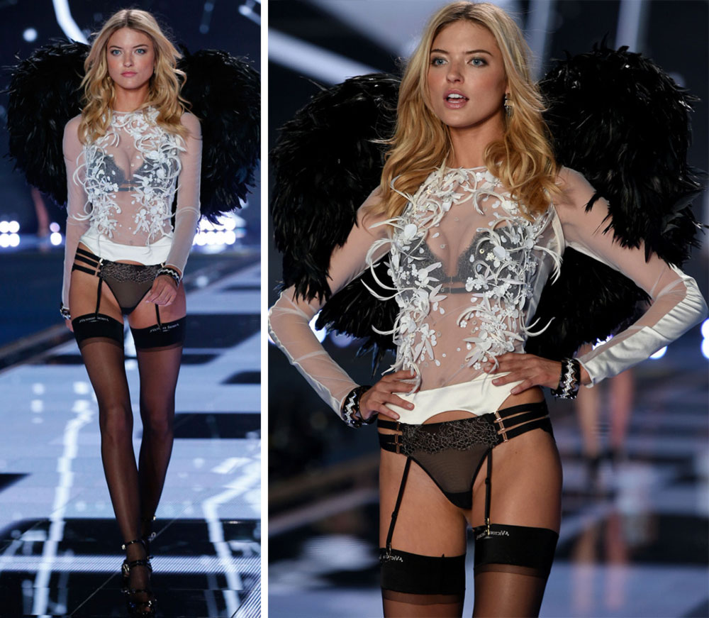 Victoria s Secret 2014 Fashion Show Martha Hunt wings