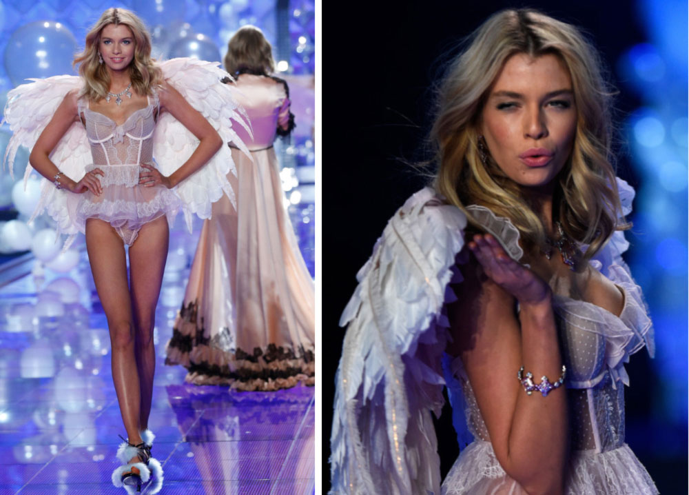 Victoria s Secret 2014 Fashion Show Stella Maxwell wings