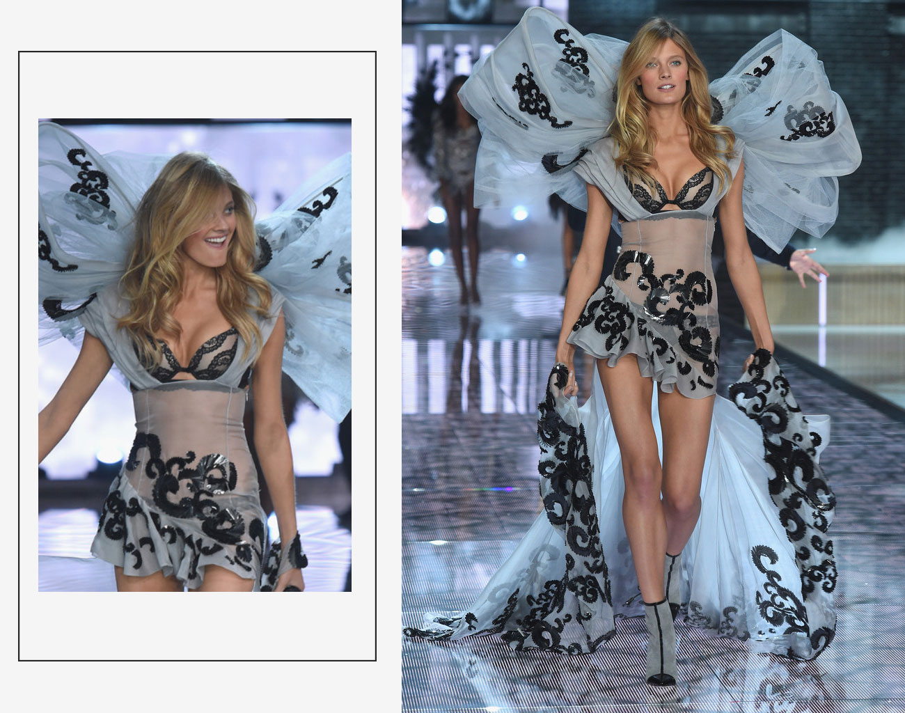 Victorias Secret 2015 fashion show Constance Jablonski bow wings