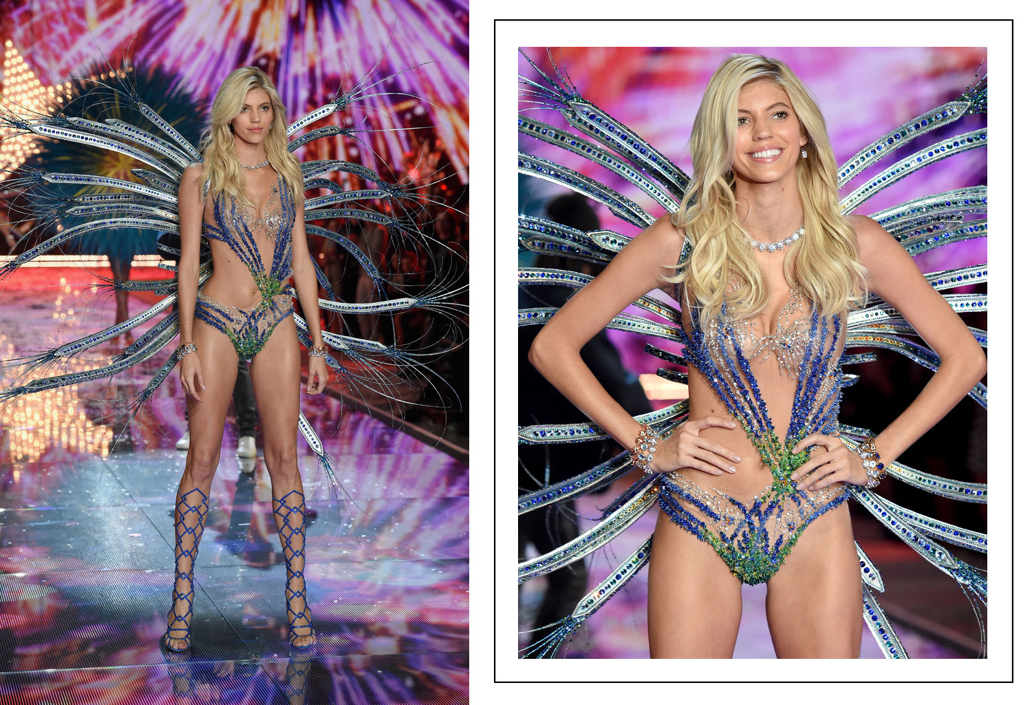 Victoria s Secret 2015 fashion show Devon Windsor wings
