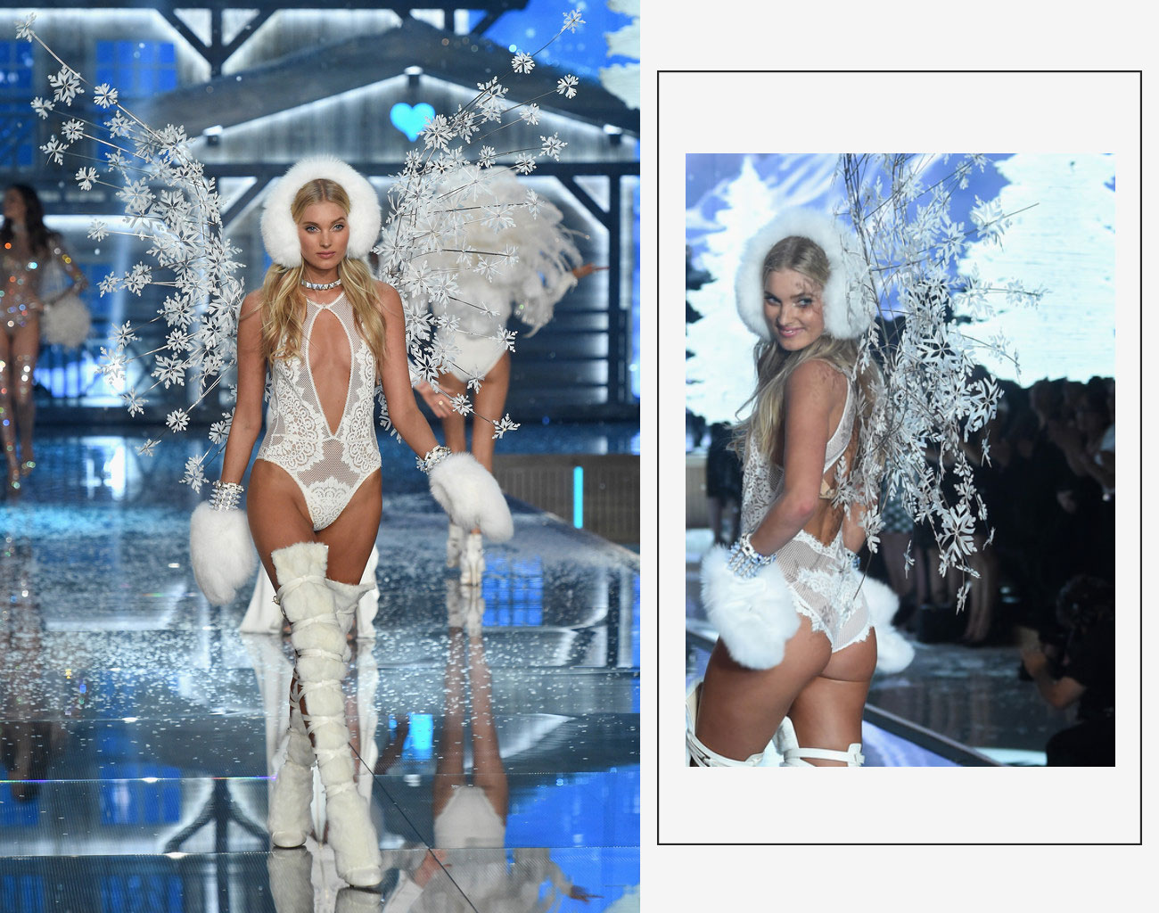 Victorias Secret 2015 fashion show Elsa Hosk wings