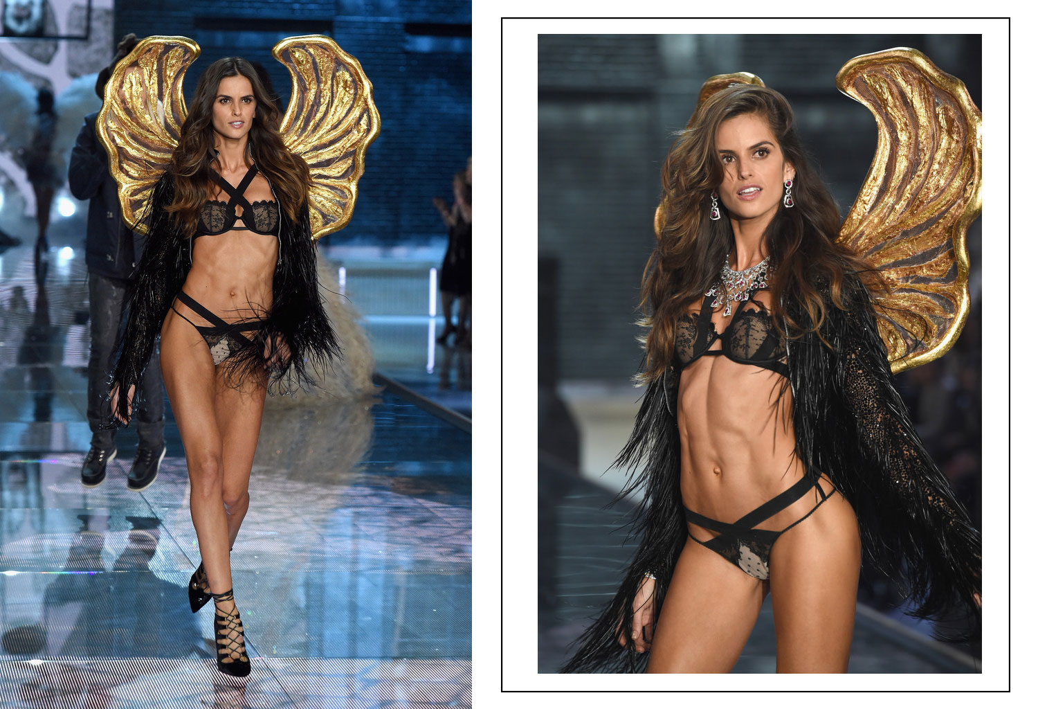 Victoria s Secret 2015 fashion show Izabel Goulart wings