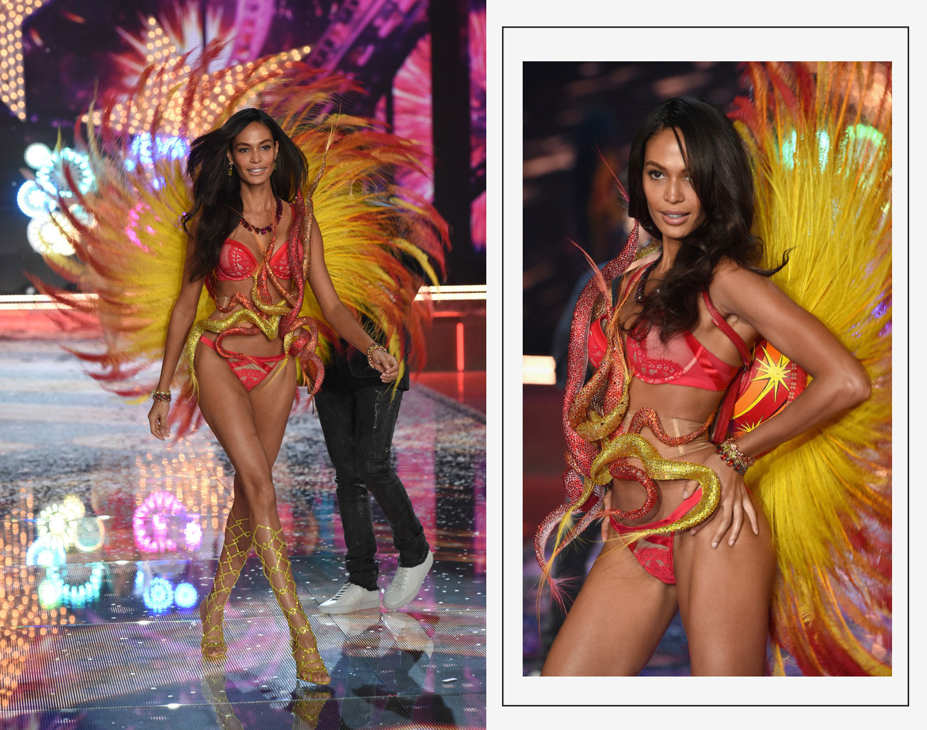 Victorias Secret 2015 fashion show Joan Smalls wings