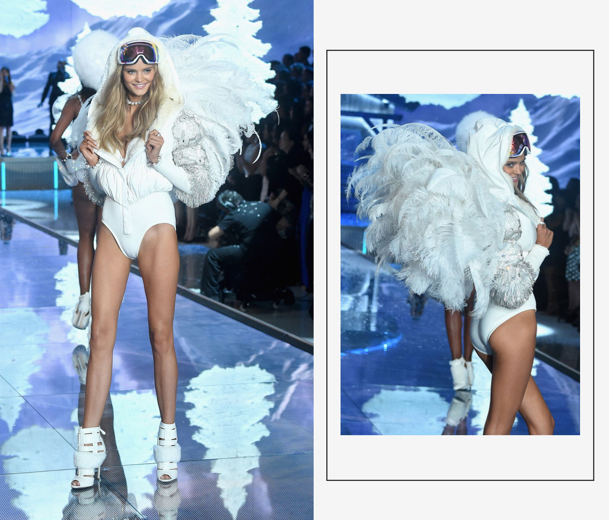 Victorias Secret 2015 fashion show Kate Grigorieva white wings