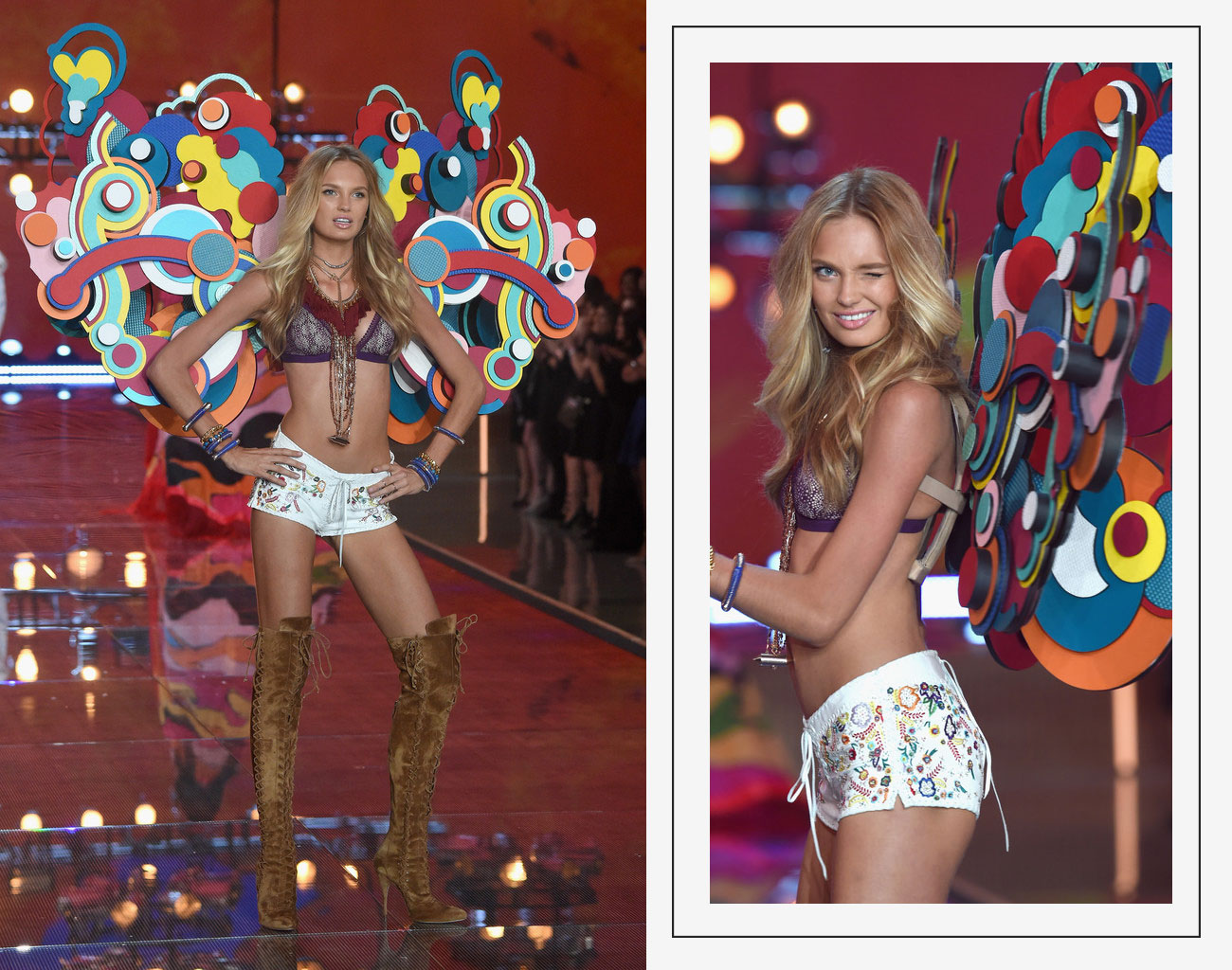 Victorias Secret 2015 fashion show Romee Strijd Colored Wings