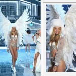 Victorias Secret 2015 fashion show Romee Strijd white wings