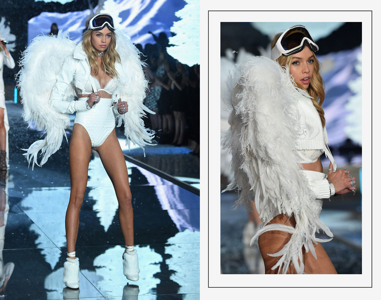 Victorias Secret 2015 fashion show Stella Maxwell white wings