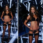 Victoria s Secret Fashion Show 2014 Alessandra Ambrosio black wings