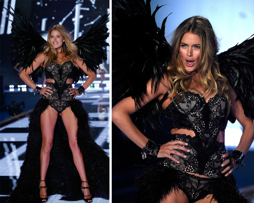 Victoria s Secret Fashion Show 2014 Doutzen Kroes black wings
