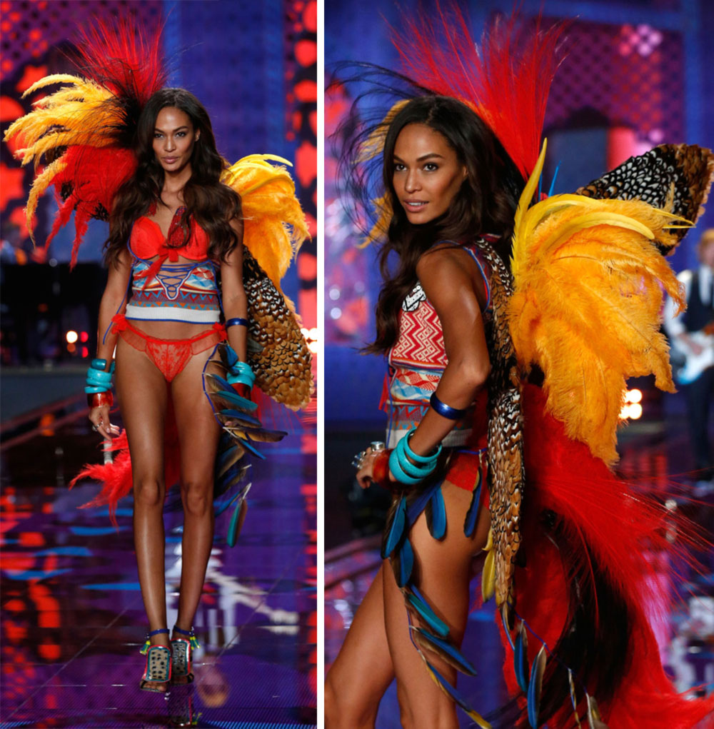 Victoria s Secret fashion show 2014 Joan Smalls wings