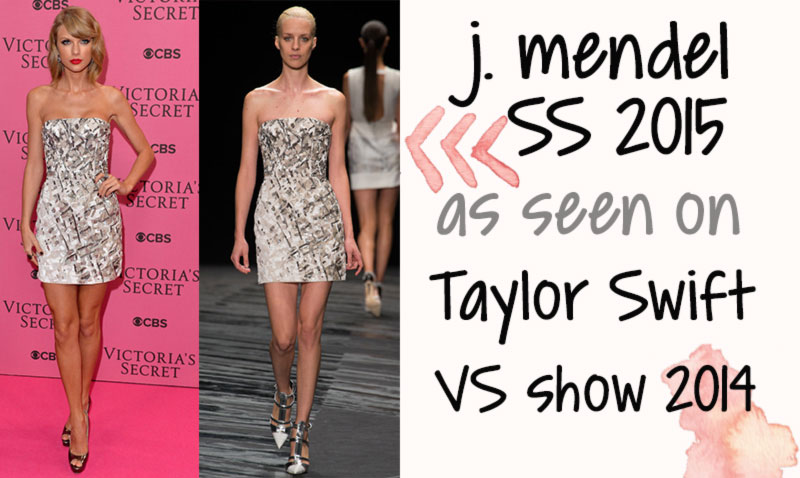 Victoria s Secret fashion show 2014 Taylor Swift JMendel minidress