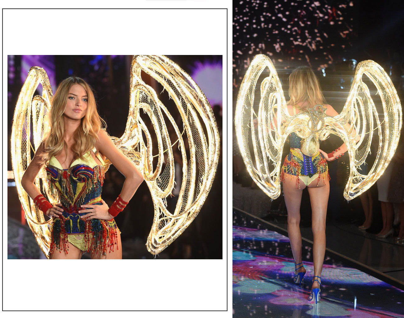 Victorias Secret fashion show 2015 led wings Martha Hunt