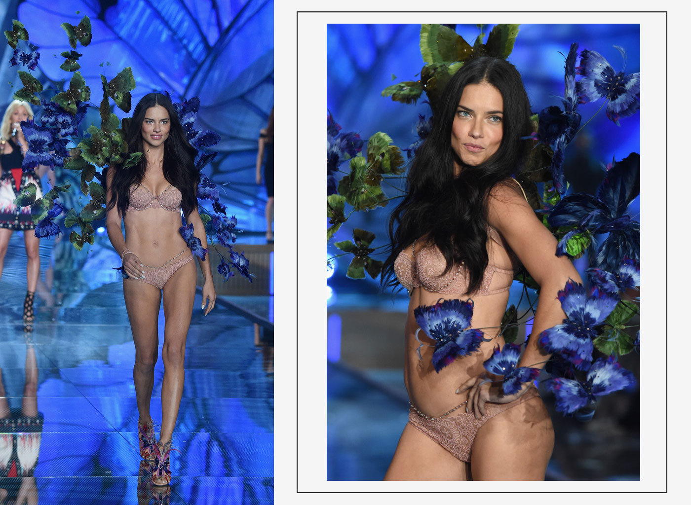 Victorias Secret fashion show 2015 veteran model Adriana Lima