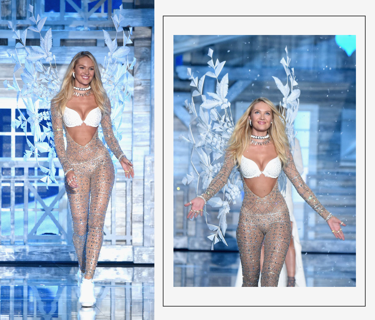 Victorias Secret Fashion Show Candice Swanepoel snow wings