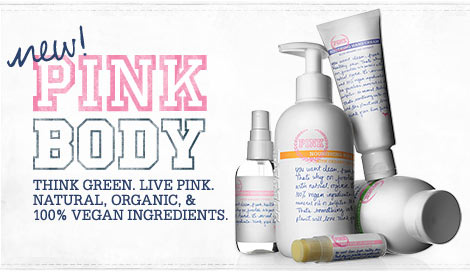 Victoria s Secret Pink Organic beauty line