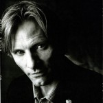 Viggo Mortensen black and white picture