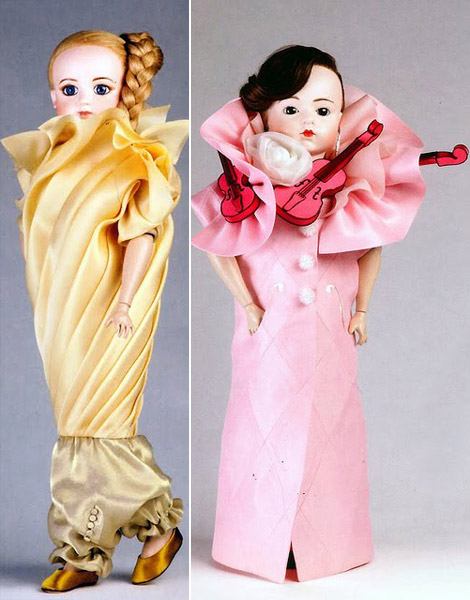 Viktor and Rolf doll dresses
