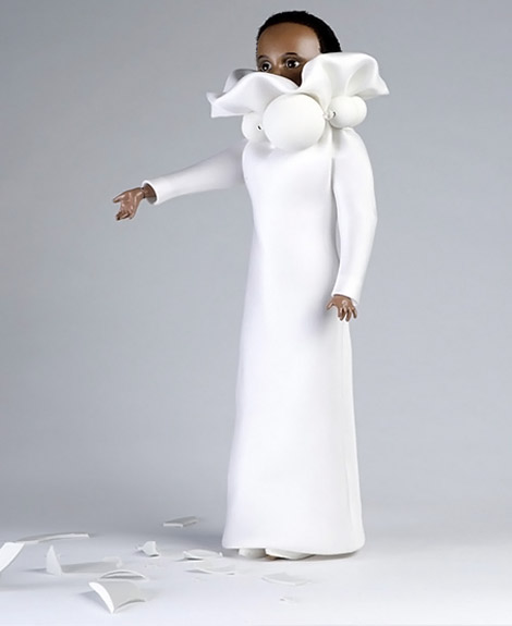 Viktor and Rolf doll white dress