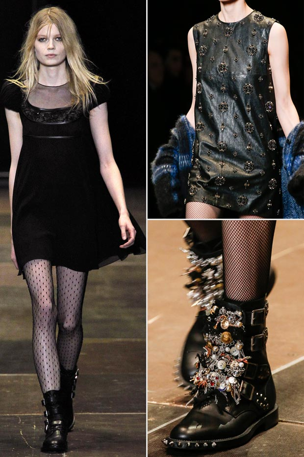 Vintage edgy Fall 2013 Saint Laurent Paris