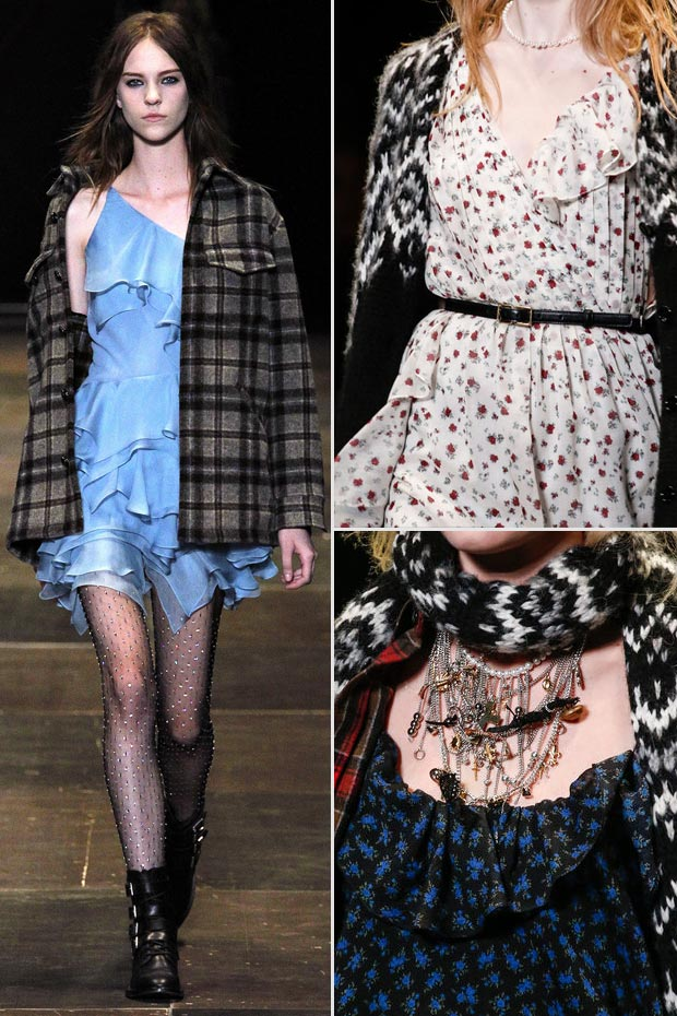 Vintage Grunge Fall 2013 Saint Laurent Paris