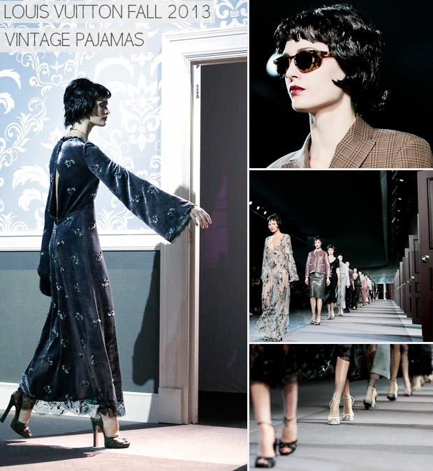 vintage pajamas Fall 2013 Louis Vuitton
