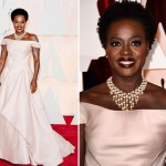 Viola Davis Zac Posen dress 2015 Oscars