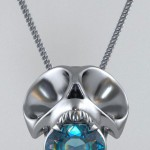 Violet Darkling skull necklace stone