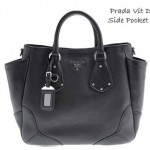 Vit Daino side pocket Prada black tote