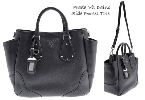 Ashley Tisdale Has Vit Daino Side Pocket Prada Brown Tote
