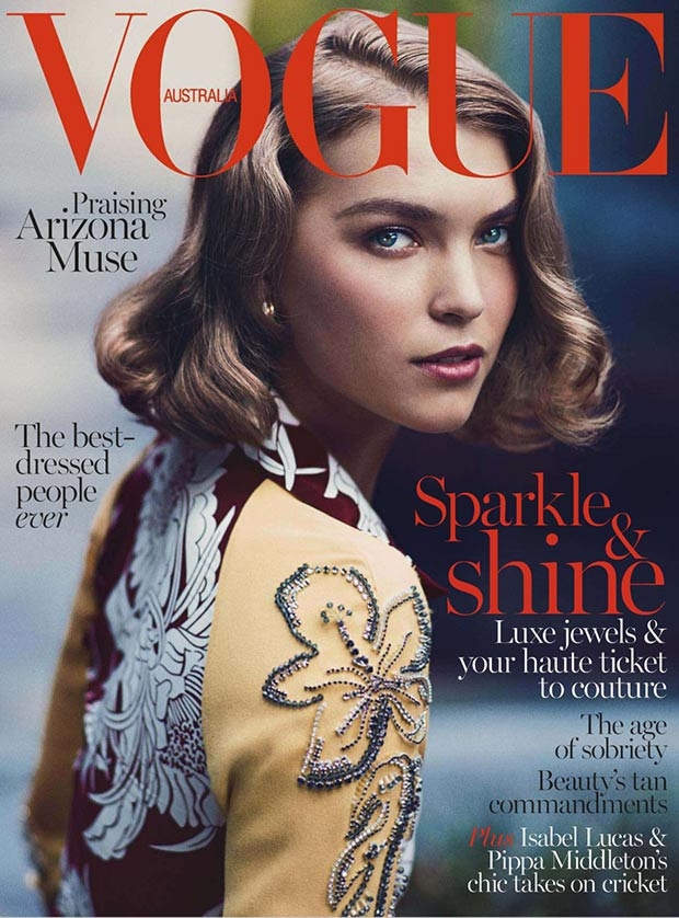Vogue Australia December 2013 cover Arizona Muse
