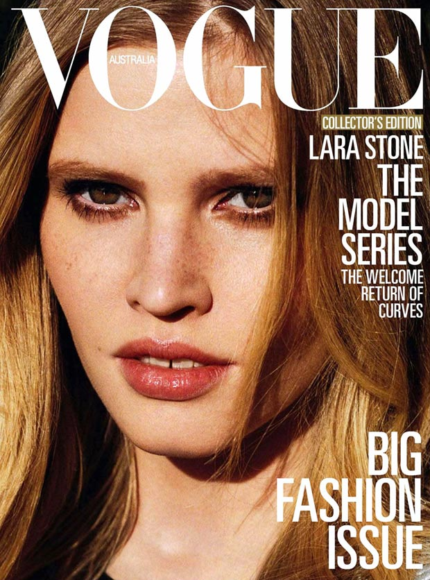 Vogue Australia models covers Lara Stone March 2013