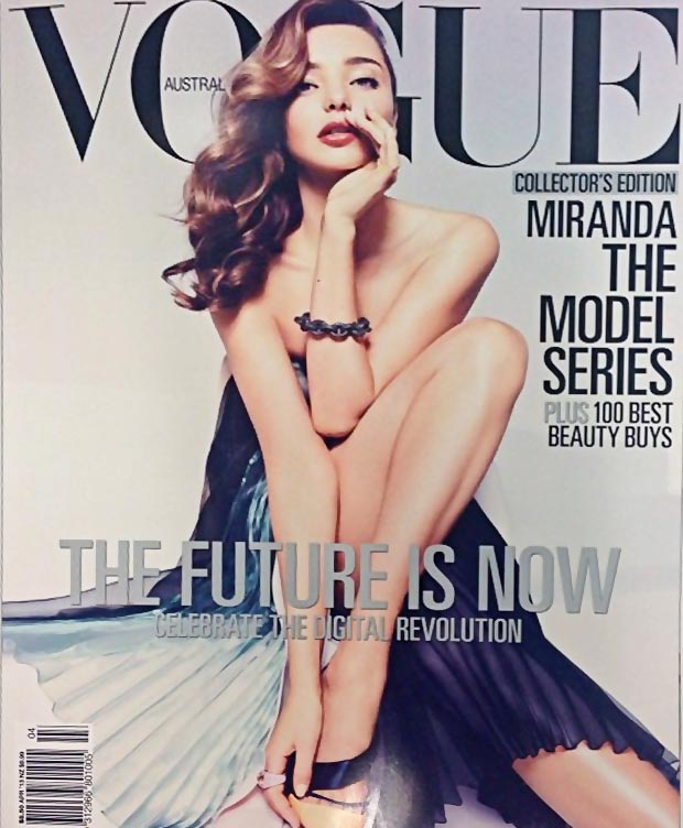 Vogue Australia models covers Miranda Kerr April 2013