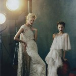 Vogue February models in Marchesa