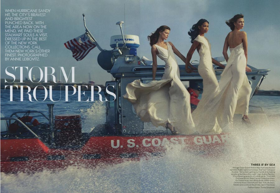 Vogue February Superstorm Sandy pictorial