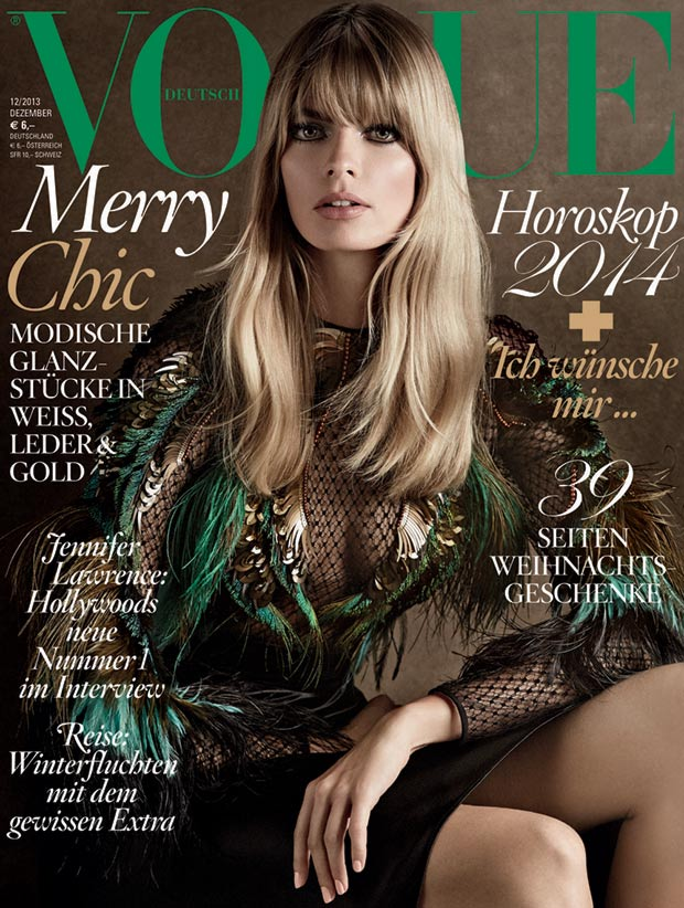 Vogue Germany December 2013 cover Julia Stegner