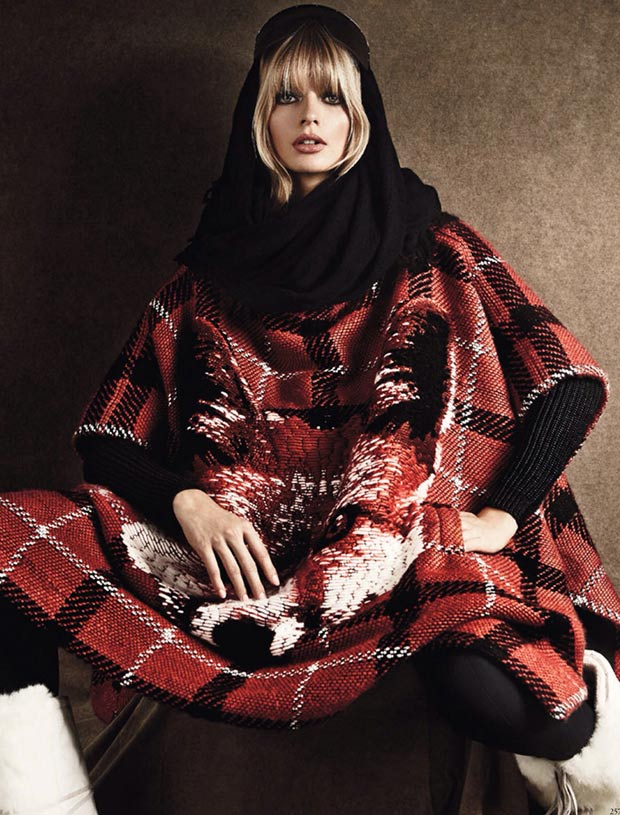 Vogue Germany December 2013 Julia Stegner tartan