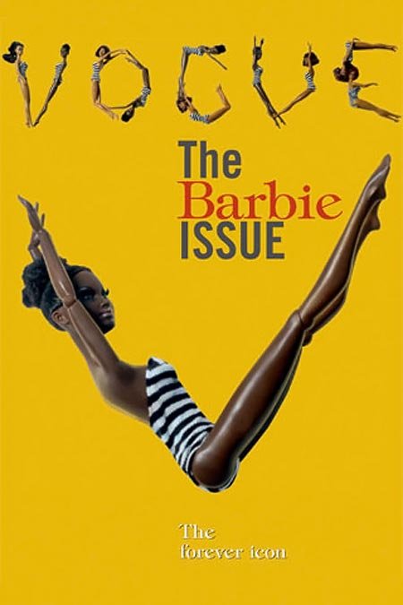 Vogue Italy July 2009 black Barbie cover