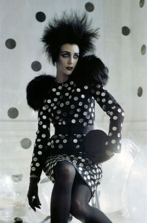 Vogue Italy September 2009 dots dress