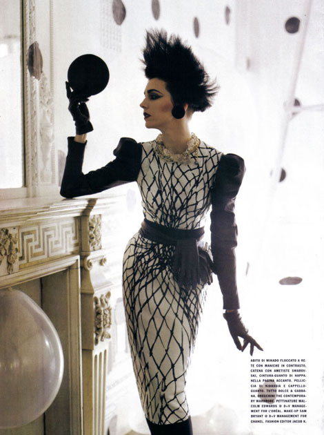 Vogue Italy September 2009 dots stripes