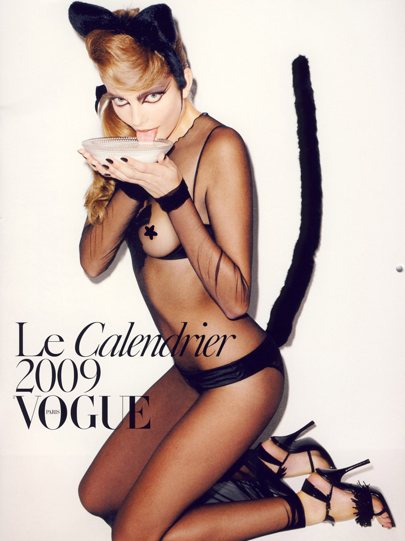 Vogue Paris Calendar 2009 cover