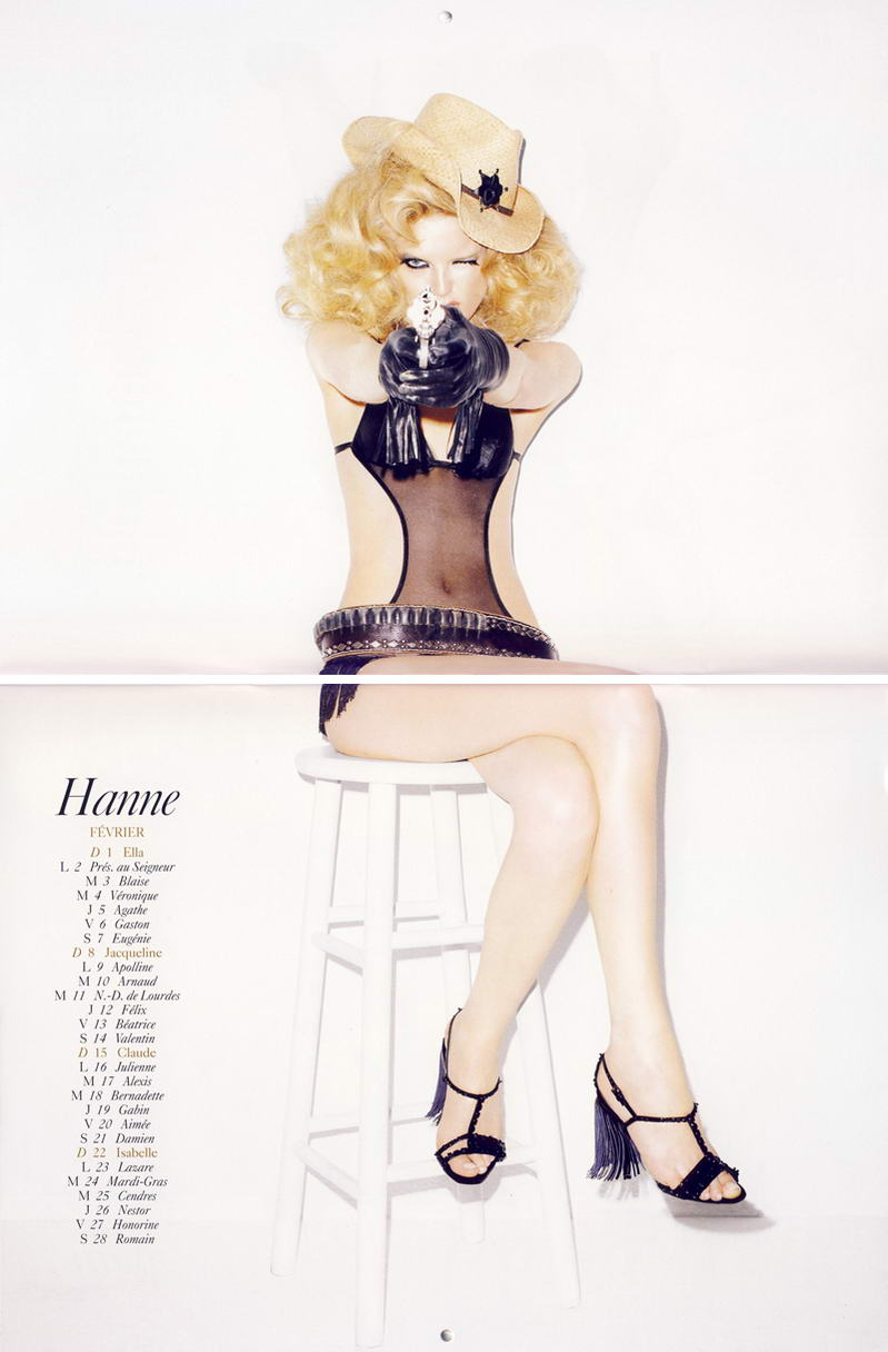 Vogue Paris Calendar 2009 February