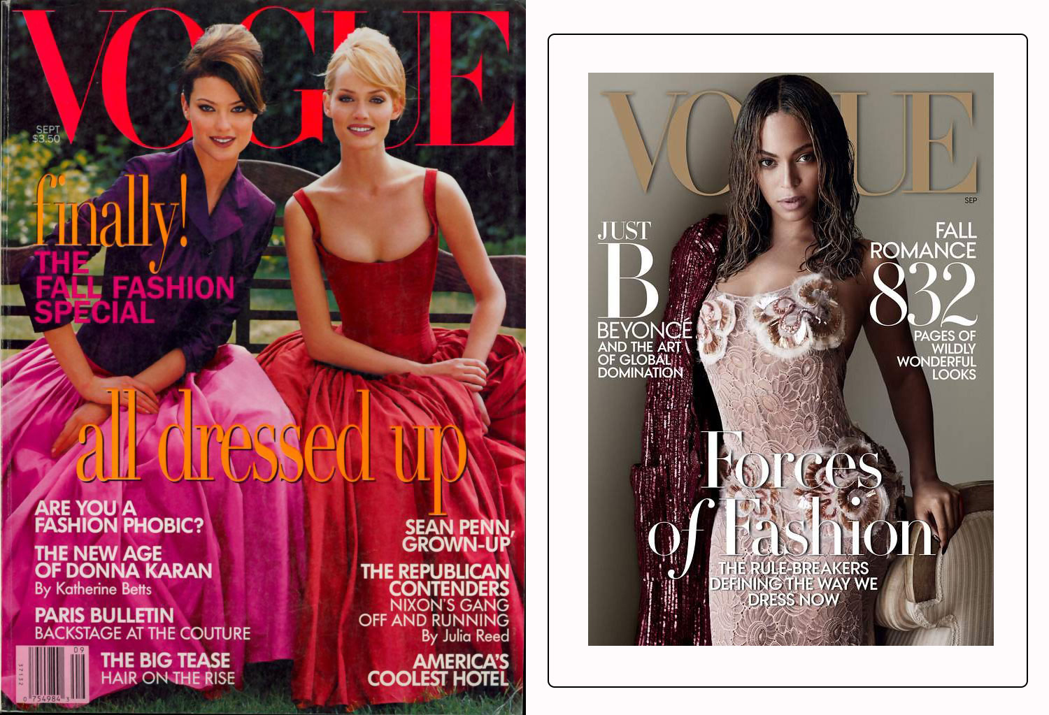 Vogue September 1995 cover vs September 2015