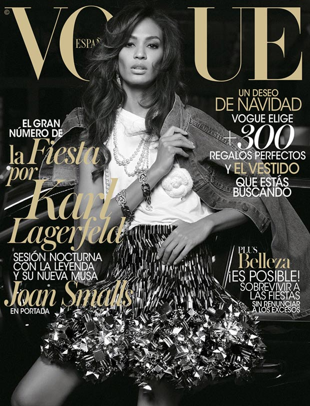Vogue Spain December 2013 cover Joan Smalls
